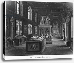 Постер Ваузель Джон The 15th century room, Musee des Monuments Francais, Paris, 1816