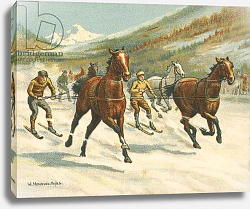 Постер Байлс Уильям Races Historic and Modern, Ski-Joring
