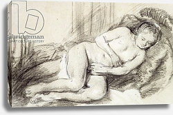 Постер Рембрандт (Rembrandt) Reclining Female Nude