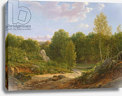 Постер Бидауль Жан View of Fontainebleau Forest, 1829