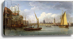Постер Андресон Уильям London Bridge, with St. Paul's Cathedral in the Distance, 1815
