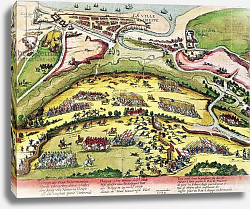 Постер Хогенберг Франц (карты) The Siege of Dieppe in 1589, 1589-92