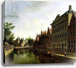 Постер Беркхейде Геррит View of the Kloveniersburgwal in Amsterdam, with the Waag, 1685