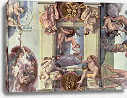 Постер Микеланджело (Michelangelo Buonarroti) Sistine Chapel Ceiling: The Creation of Eve, 1510