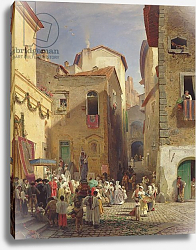Постер Ахенбах Освальд Festival of Our Lady at Gennazzano, Roman Campagna, Italy, 1865