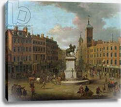 Постер Николлс Джозеф A View of Charing Cross and Northumberland House, 1746