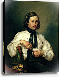 Постер Милле, Жан-Франсуа Portrait of Armand Ono, known as The Man with the Pipe, 1843