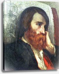 Постер Курбе Гюстав (Gustave Courbet) Portrait of Alfred Bruyas