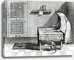 Постер Школа: Голландская 17в A Chinese Scribe, from 'China Illustrated' by Athanasius Kircher 1667