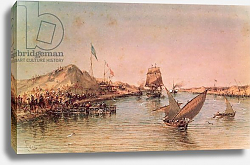 Постер Риоу Эдуард Shipping on the Suez Canal, 1869