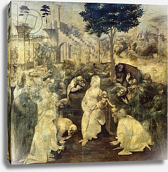 Постер Леонардо да Винчи (Leonardo da Vinci) The Adoration of the Magi, 1481-2
