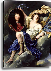 Постер Нокре Жан Fame Presenting a Portrait of Louis XIV to France