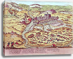 Постер Хогенберг Франц (карты) The Siege of St. Quentin, 27th July 1557