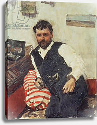 Постер Серов Валентин Portrait of Konstantin Korovin, 1891