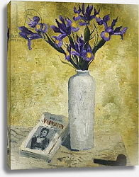 Постер Вуд Кристофер Irises in a Tall Vase, 1928