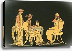 Постер Флексман Джон Ulysses at the table of Circe
