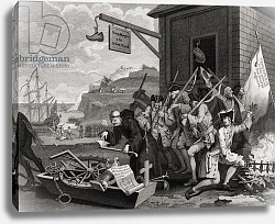 Постер Хогарт Вильям (последователи) France, engraved by C. Armstrong, from 'The Works of Hogarth', published 1833