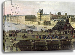 Постер Школа: Фламандская 17 в. View of the Pont-Neuf and the River Seine looking downstream, detail, c.1633