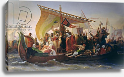 Постер Синьоль Эмиль The Crossing of the Bosphorus by Godfrey of Bouillon and his Brother, Baldwin, in 1097, 1854