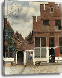 Постер Вермеер Ян (Jan Vermeer) Street in Delft, c.1658