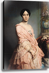 Постер Дюбуфе Эдуард Portrait of Madame F, 1850-51