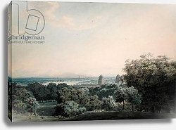 Постер Козенс Джон (акв) London from Greenwich Hill, c.1791