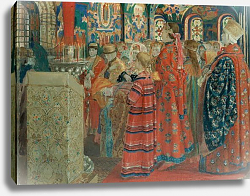 Постер Рябушкин Андрей Seventeenth Century Russian Women at Church, 1899