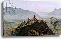 Постер Васман Рудольф View of the Adige Valley, 1831