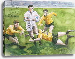Постер Болл Гарет (совр) Rugby Match: England v Australia in the World Cup Final, 1991, Will Carling being tackled