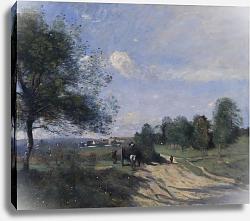 Постер Коро Жан (Jean-Baptiste Corot) Телега