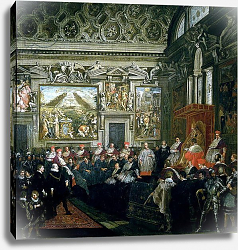 Постер Кортона Пьетро Pope Paul V with an Audience, 1620