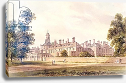 Постер Буклер Джон (акв) The South-West view of Kensington Palace, 1826