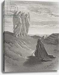 Постер Доре Гюстав Abraham and the Three Angels, illustration from Dore's 'The Holy Bible', engraved by Ligny, 1866