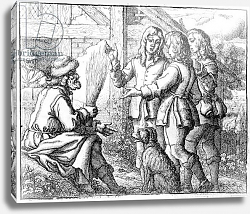 Постер Барлоу Франсис The Old Man and his Sons, illustration from 'Aesop's Fables', 1666