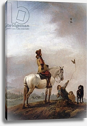 Постер Вауверман Филипс Gentleman on a Horse Watching a Falconer