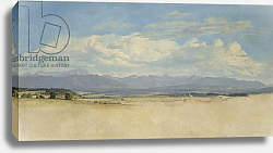 Постер Дженслер Якоб Sunny Mountainous Panorama, 1829