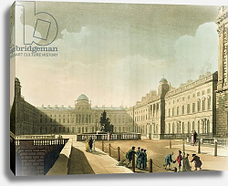 Постер Роуландсон Томас Somerset House, the Strand from Ackermann's 'Microcosm of London' Vol III, Published in 1809