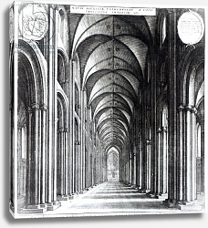 Постер Холлар Вецеслаус (грав) Interior of the nave of St. Paul's, 1658