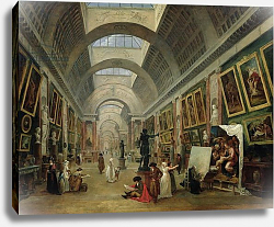 Постер Робер Юбер View of the Grand Gallery of the Louvre, 1796