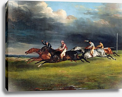 Постер Жерико Теодор The Epsom Derby, 1821
