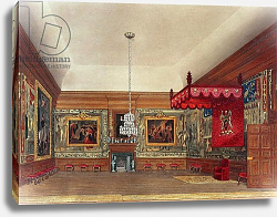 Постер Пайн Уильям (грав) The Throne Room, Hampton Court from Pyne's 'Royal Residences', 1818