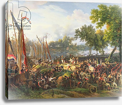 Постер Лейюн Луис The French Army crossing the Rhine at Dusseldorf, 6th September 1795