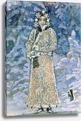 Постер Врубель Михаил The Snow Maiden, a sketch for the Opera by Nikolai Rimsky-Korsakov, 1890s