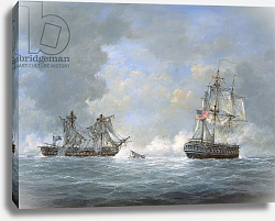 Постер Уиллис Ричард U.S Frigate 'United States' and the British frigate 'Macedonian', 1812