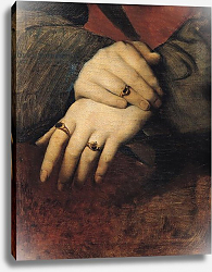 Постер Ингрес Джин Study of a Woman's Hands, after the portrait of Maddalena Doni by Raphael
