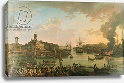 Постер Хью Жан-Франсуа View of the port of Brest from the covered docks in 1795, 1795