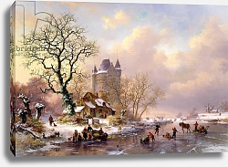 Постер Крузман Фредерик Winter Landscape with a Castle