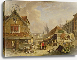 Постер Ходжсон Давид The Old Fishmarket, Norwich, 1825