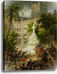 Постер Лейюн Луис Assault on the Monastery of San Engracio in Zaragoza, 8th February 1809, 1827