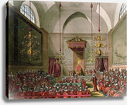 Постер Роуландсон Томас House of Lords from Ackermann's 'Microcosm of London'